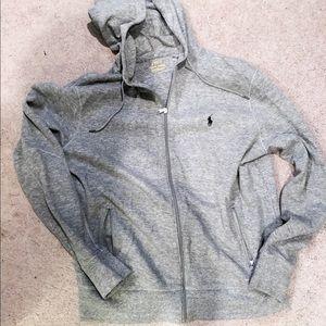 Ralph Lauren polo gray zip up jacket in size L